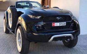Това е най-големият и абсурден Ford Mustang GT 4x4 в света. Шасито е от Dodge Ram