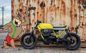 """Едно прекрасно Moto Guzzi V9, което е вдъхновено от… герой на """"Хана-Барбара"""""""