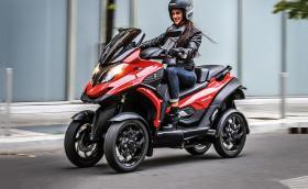 Quadro4 не е макси скутер, а... SUV. Има четири колела, хидро-пневматика и може да се кара с категория B. Галерия, видео и инфо