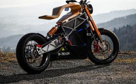 Essence Motocycles 'e-raw' е ел. мотоциклет с дървена седалка, който ползва телефона ви за километраж. Галерия и инфо
