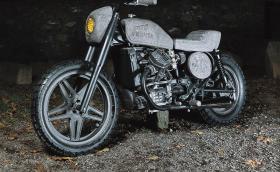 Моторът на Фред Флинтстоун: 1982 Honda CX500, изработен от камък. Галерия и инфо