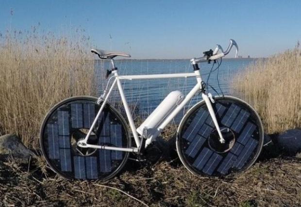 Електрически соларен велосипед, развиващ 50 км/ч