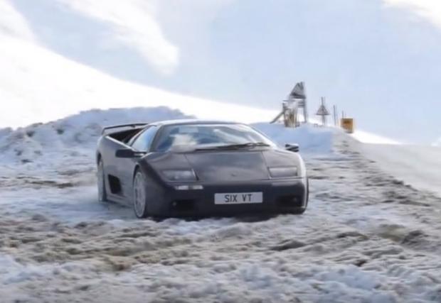 Жега на лед. Lamborghini Diablo VT 6.0 (Видео)