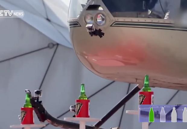 Да отвориш бира с хеликоптер (Видео)