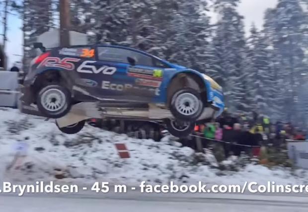 Рекордният скок на Ейвинд Бринилдсен - 45 метра с Fiesta WRC