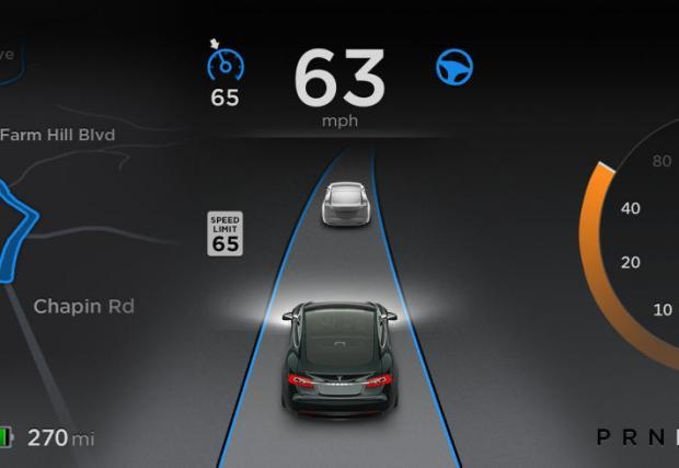 Автопилотът на Tesla сгафи на аутобан