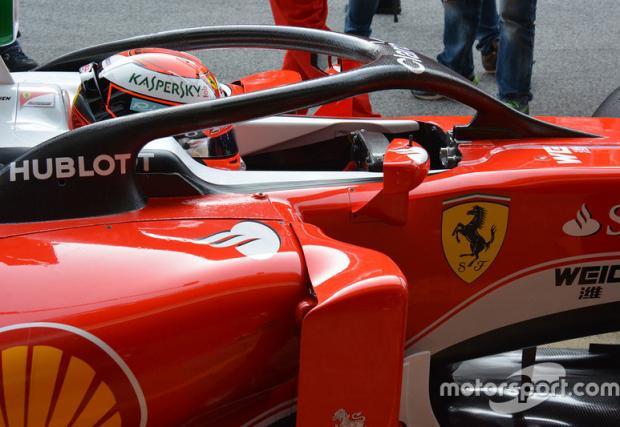 Първи тестове на новите F1 кокпити. Кими Райконен е зад волана