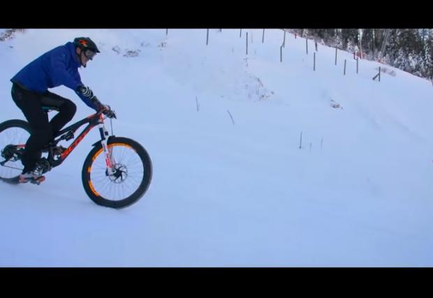 Реми Абсалон в зимните коловози (Видео)