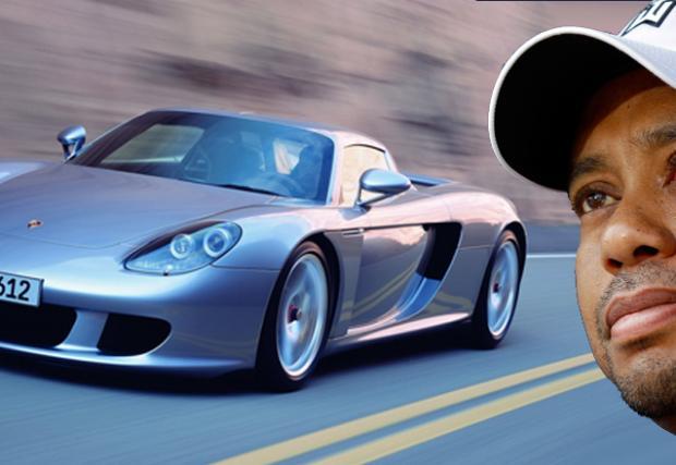 Porsche Carrera GT е прекалено добро за Тайгър Уудс. Про голфърът завъртял колата на първия ден. И я върнал