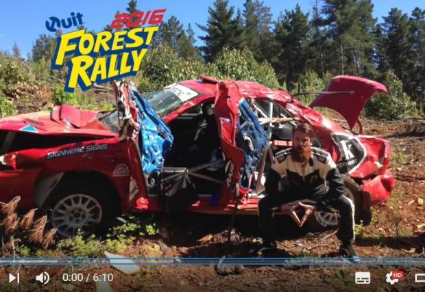 Епична катастрофа с рали Subaru. Пилотът обяснява случката със завидно спокойствие, навигаторът снима. Пичове с късмет. Видео