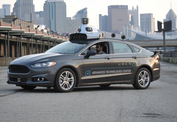 Това е автономният Ford Fusion на Uber. Компанията вече тества коли без шофьори в САЩ
