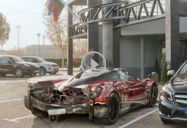 Кристиано Роналдо потрошава Pagani Huayra в рекламно видео. Видеото