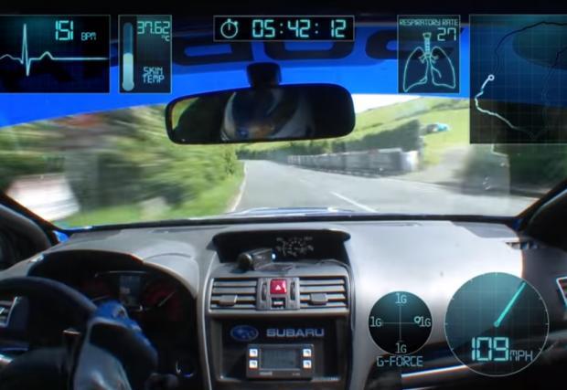 Може би най-доброто бордово видео: пълната рекордна обиколка на Марк Хигинс. Колата е Subaru WRX, мястото - о-в Ман