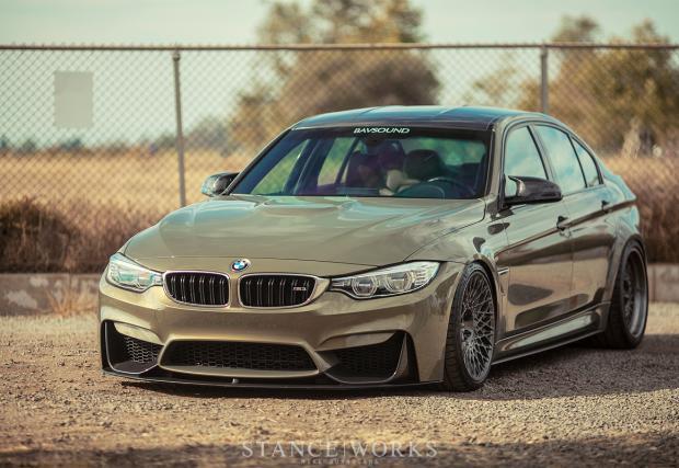 """""""Да"""" или """"не"""" за това BMW M3 с HRE Performance джанти и клекнала стойка?"""