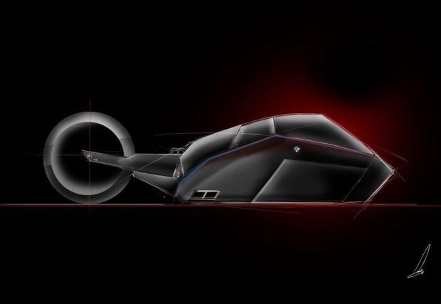 Възхитителен, вдъхновен от акула: BMW Titan Motorcycle Concept