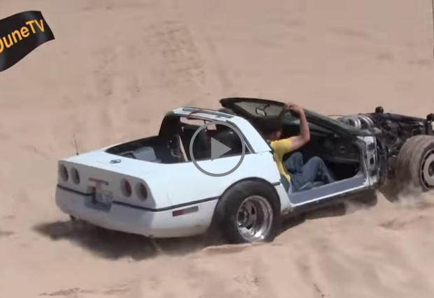 Да превърнеш Chevy Corvette в пясъчно бъги. Съвсем логично... Видео
