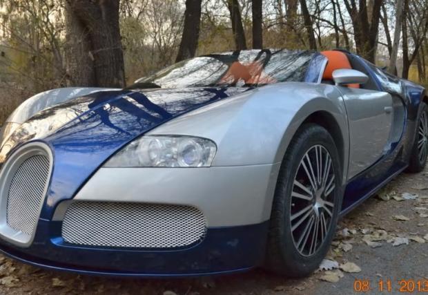 Bugatti Veyron правено в Казахстан. Моторът е 500-кубиков, а колата е за деца. Мега играчката! Видео