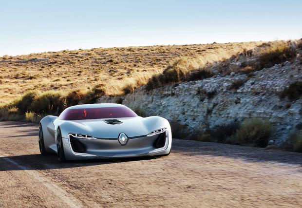 Renault Trezor GT e като свалено от обложката на Random Access Memories на Daft Punk. Изумителната френска концепция. Видео