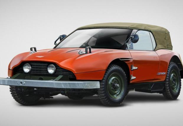 Aston Defender. Доста извратена картинка на детенцето на класически Aston Martin и LR Defender. Браво за въображението.
