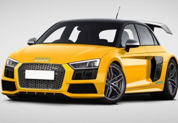 Audi S1 V10 Plus. Ето на това викаме хонхеч – Audi S1, кръстосано с R8 V10. Компактна колица с добро моторче. Искаме го!