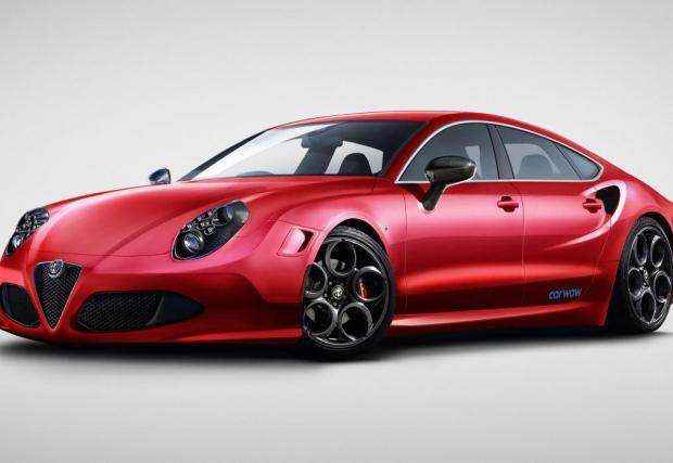 Audi Romeo C4 Sportback. Тук връзката не се е получила толкова приятно, но пак – Alfa 4C, смесена с Audi A7 Sportback.