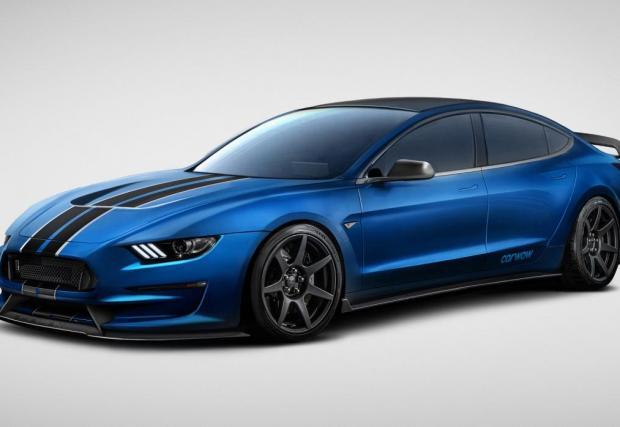Ford Model 3. Мъсъл екология! Ford Mustang и Tesla Model 3, обединени в едно. Колата изглежда доста добре.
