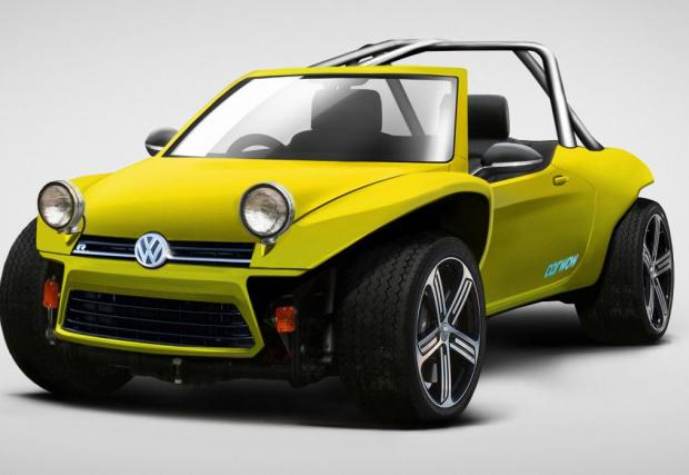 VW Golf R Buggy. Може би най-нормалната кола от галерията, просто защото сме свикнали да асоциираме VW с плажните бъгита. Базирани на Beetle обаче, не на Golf R.