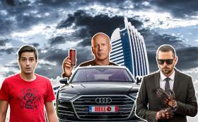 """DizzyRiders на специална """"адска"""" мисия с новото Audi A8, Ицака и Брус Уилис. Почти с Брус… Видео!"""