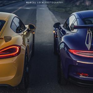 Porsche 991 GT3 RS и 981 GT4 | DizzyRiders.bg