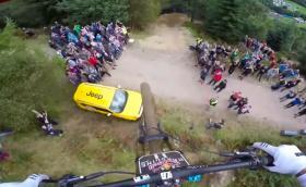 Red Bull Hardline 2016: Да летиш с колело. Изпотяващото дланите спускане на Дан Атъртън. Видео и галерия